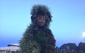 """Tượng khỉ ở Hạ Long đột nhiên lan truyền trên MXH bởi biểu cảm """"ngáo ngơ"""" khó tả"""