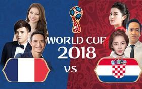 Chung kết World Cup 2018: Showbiz Việt tranh cãi nảy lửa về đội tuyển sẽ giành cúp vô địch!