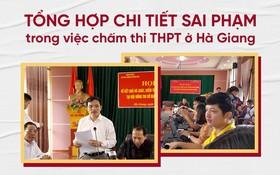 Infographic: Toàn bộ diễn biến từ lúc công bố điểm thi đến những chi tiết sai phạm trong việc chấm thi THPT ở Hà Giang