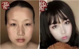 Con gái trước và sau khi trang điểm: Sức mạnh đổi trắng thay đen là có thật!