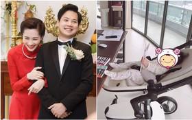 """Chào đời 5 tháng, con gái được ông xã Đặng Thu Thảo gọi là """"sếp"""", tiết lộ ai cũng phải sợ bé"""
