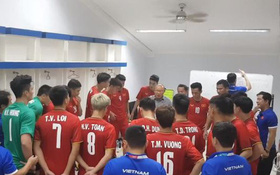 Clip xúc động: HLV Park Hang Seo truyền lửa cho cầu thủ Olympic Việt Nam trước trận ra quân ở ASIAD 2018