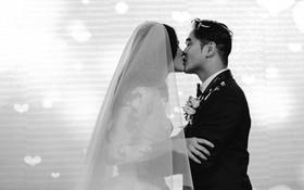"""Tuyết Lan """"Next Top"""" cùng ông xã hơn 9 tuổi hôn nhau ngọt ngào trong đám cưới"""