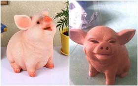 Đặt mua heo hồng cute qua mạng, thanh niên nhận về con lợn nhựa mặt mũi không thể gian manh hơn