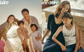 Vợ chồng Kwon Sang Woo và Hoa hậu tung ảnh tạp chí kỷ niệm 10 năm kết hôn đẹp xuất sắc, gây chú ý là 2 thiên thần