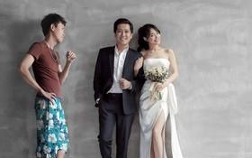 """Ảnh chế: """"Người thứ 3"""" xuất hiện với bộ mặt khó ưa trong ảnh cưới Trường Giang - Nhã Phương khiến dân mạng cười quặn ruột"""