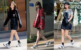 """Không có lấy một set đồ """"bánh bèo"""", street style của con gái Hàn tuần qua toàn những ca cool ngầu hút mắt"""