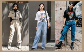 """Street style 2 miền: trời sang thu, các bạn trẻ vẫn mê mệt crop top và quần cạp cao """"hot hit"""" của mùa hè"""