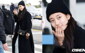 Suzy để mặt mộc 100% cũng xinh đẹp hết phần người ta