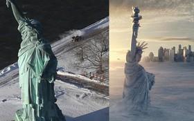 """Sau trận bão tuyết kinh hoàng, thành phố New York hoang tàn, ảm đạm như trong phim """"Ngày Tận Thế"""""""