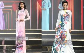 Áo dài đêm chung kết HHHV: Xem mà cứ ngỡ nhầm phải cuộc thi Hoa hậu nào năm xưa