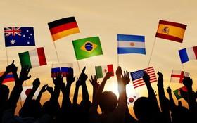Đố bạn nhận biết được đây là 7 lá cờ của các nước nào?