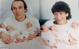 """Sau 34 năm vất vả nuôi con, cặp bố mẹ sinh 6 đầu tiên nổi tiếng thế giới ngày nào hạnh phúc trong bức ảnh đoàn viên """"độc nhất vô nhị"""""""