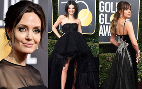 Thảm đỏ Quả Cầu Vàng 2018: Angelina, Kendall, Emma và dàn sao đồng loạt diện đồ đen chống nạn xâm hại tình dục