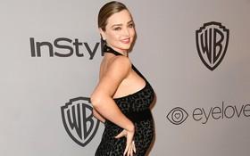 Miranda Kerr bụng bầu vượt mặt vẫn đẹp lộng lẫy, đọ sắc với dàn sao tại tiệc hậu Quả Cầu Vàng