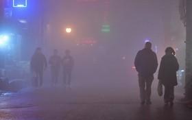 Chùm ảnh: Cả thị trấn Sapa chìm trong sương mù dưới cái rét 4 độ C