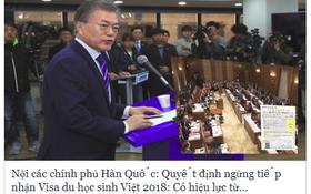 """Thông tin """"Hàn Quốc chính thức ngừng nhận du học sinh Việt Nam từ 2018"""" là hoàn toàn giả mạo"""