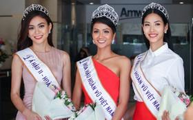 Một ngày làm việc từ sáng sớm đến tối mịt của Top 3 Hoa hậu Hoàn vũ Việt Nam 2017