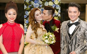Lê Giang lần đầu lộ diện sau lùm xùm với Duy Phương, cùng dàn sao Vbiz đến chúc mừng đám cưới của Lâm Khánh Chi