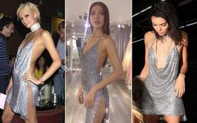 Minh Tú quá bạo, chẳng ngán mặc đầm xẻ hiểm hóc y chang Kendall Jenner lẫn Paris Hilton