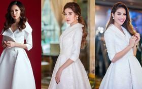 """Khi hai Bông hậu cùng diện một thiết kế váy, thì Midu đụng hàng liệu còn có """"cửa"""" cạnh tranh?"""