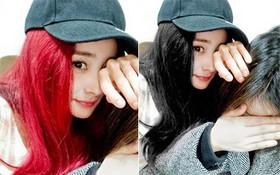 """Vừa khoe ảnh selfie với mái tóc đỏ rực rỡ, Dương Mịch ngay lập tức bị các fan """"chỉnh"""" về lại tóc đen truyền thống"""
