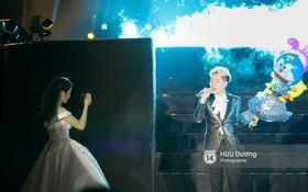 Hòa Minzy mặc đầm cồng kềnh vẫn chịu khó cổ vũ Đức Phúc như fan cuồng