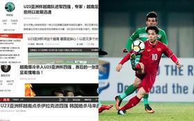 Hàng loạt trang báo lớn Trung Quốc ngợi khen chiến thắng lịch sử của đội tuyển U23 Việt Nam