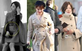 """Liên tục """"kín như bưng"""", bụng nhô bất thường, Song Hye Kyo liệu có đang mang bầu?"""
