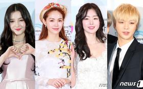 Minh Hằng tự tin diện áo dài, mỹ nhân U30 chiếm hết spotlight vì đẹp như nữ thần bên Wanna One trên thảm đỏ sự kiện tại Hàn