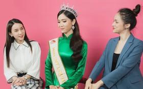 """Quán quân """"The Tiffany Vietnam"""" Nhật Hà diện áo dài đọ sắc cùng Hoa hậu Hương Giang và Á hậu Yoshi"""