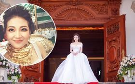 """Cô dâu """"vàng đeo trĩu cổ"""" sống trong lâu đài 7 tầng ở Nam Định: Bố mẹ cho 200 cây vàng, 2 sổ đỏ và rước dâu bằng Rolls-Royce Phantom 35 tỷ"""