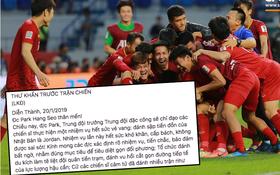 Bức thư khẩn gửi đội tuyển Việt Nam với phong cách chuyên Sử gây sốt MXH vì quá độc đáo và hào hùng