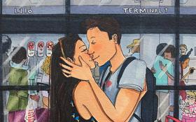 Bộ tranh: Có những lãng mạn đầy đơn giản mà chỉ những cặp đôi yêu nhau mới hiểu