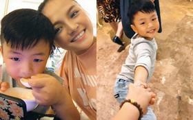Bên mẹ dịp cuối tuần, con trai Thu Quỳnh lập tức gây sốt với loạt biểu cảm quá đáng yêu!