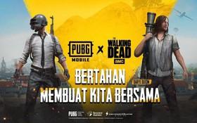 PUBG Mobile mang vũ trụ xác sống The Walking Dead vào cuộc chiến sinh tồn