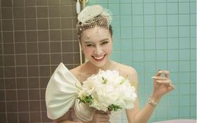 """Hết diện nguyên """"cây vàng"""", giờ mặc luôn đầm cưới thả dáng nằm bồn, Ninh Dương Lan Ngọc chuẩn bị comeback ca hát theo concept gì đây?"""