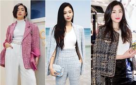 Áo khoác vải tweed: Các nàng sang chảnh nhất showbiz Việt - Hàn đều đang chết mê chết mệt, còn bạn thì sao?