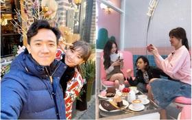 """""""Hộ tống"""" vợ sang Hàn Quốc quay show truyền hình mới, Trấn Thành không quên hẹn Hari Won đi ăn rồi """"tấn công"""" newsfeed giữa đêm"""