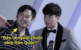 """Trước sự cố """"vô duyên"""" nhất lịch sử AAA, đại diện BTC lên tiếng: """"Đây là người thuộc ekip Hàn Quốc, hâm mộ Quốc Trường và Bảo Thanh phim Về Nhà Đi Con"""""""