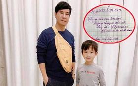 Không chỉ học 4 ngoại ngữ, con trai 8 tuổi của Lý Hải - Minh Hà còn viết chữ đẹp như mẫu in