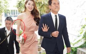 Nhã Phương tiếp tục lộ thân hình gầy guộc, hình ảnh cánh tay đáng báo động tại hôn lễ MC Hoàng Oanh gây sốc