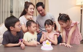 Lý Hải - Minh Hà tổ chức sinh nhật con gái, nhìn cả nhà chung khung hình đúng chuẩn gia đình đông nhóc tỳ nhất Vbiz!