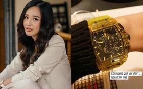 Chịu chơi như Mai Phương Thúy: Bỏ 1,7 tỷ mua đồng hồ chỉ để về nhà cất tủ vì… nặng quá