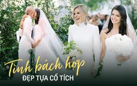 """Chuyện tình """"bách hợp"""" đẹp tựa cổ tích của nữ CDO Ralph Lauren: Gặp gỡ nhau qua một app hẹn hò, kết thúc bằng đám cưới trong một tòa lâu đài"""