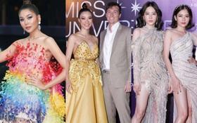Thảm đỏ chung kết Hoa hậu Hoàn vũ: MC Hoàng Oanh sánh đôi bên chồng Tây, Thanh Hằng, Vũ Thu Phương khoe sắc vóc bên dàn mỹ nhân Vbiz