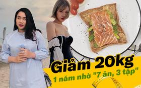 """Từng bị chê bai là """"con mập"""", cô gái Hà Nội giảm gần 20kg chỉ sau một năm nhờ """"7 ăn, 3 tập"""""""