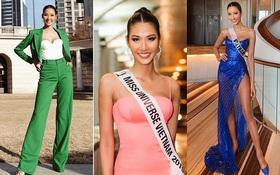 Chiến lược thời trang cao tay của Hoàng Thùy tại Miss Universe: Mỗi ngày diện một màu không trùng phát nào, lần nào cũng rực rỡ chói chang