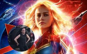 """Brie Larson đẩy xe jeep nặng 2 tấn để tập luyện cho """"Captain Marvel"""", làm siêu anh hùng khổ thế sao?"""