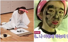 Chán đắp mặt nạ, nữ thần Irene nhà SM đắp mặt bằng mực để vẽ chân dung cho nhanh